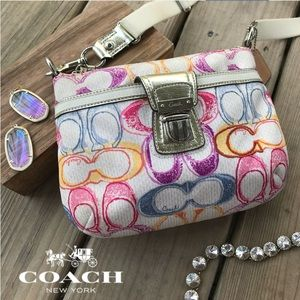 Coach Rainbow Logo Crossbody Shoulder Bag Purse